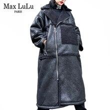 Jackets Coats Streetwear Faux-Leather Max-Lulu Winter Womens Punk Korean Plus-Size Casual