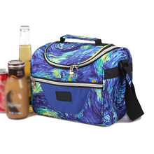Multicolor Insulated Lunch Bag Diagonal Cooler Bags Waterproof Outdoor Picnic Box Tote Portable Bento Organizer For Work Travel(China)