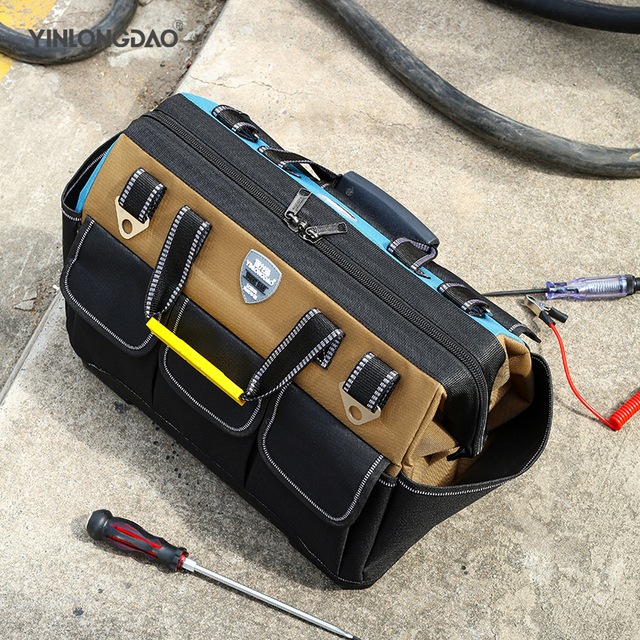 Tool Bag Portable Electrician Bag Multifunction Repair Installation Canvas Large Thicken Tool Bag Work Pocket