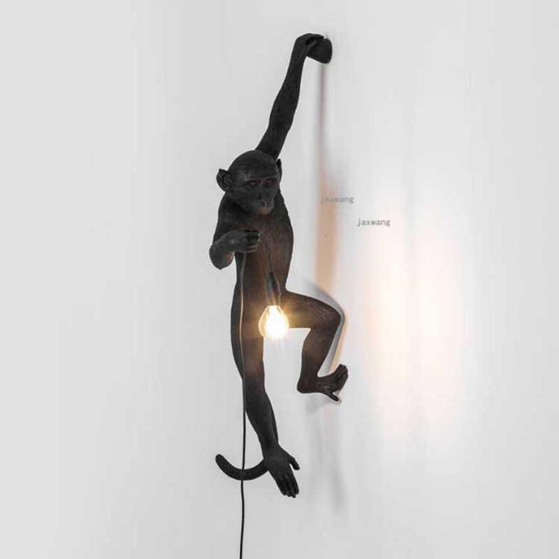 Светодиодный светильник для освещения цветные фигурки обезьян из мастики лампа креативный домашний декор обезьяна настенная лампа лофт настенные бра подвесной светильник кухонный светильник