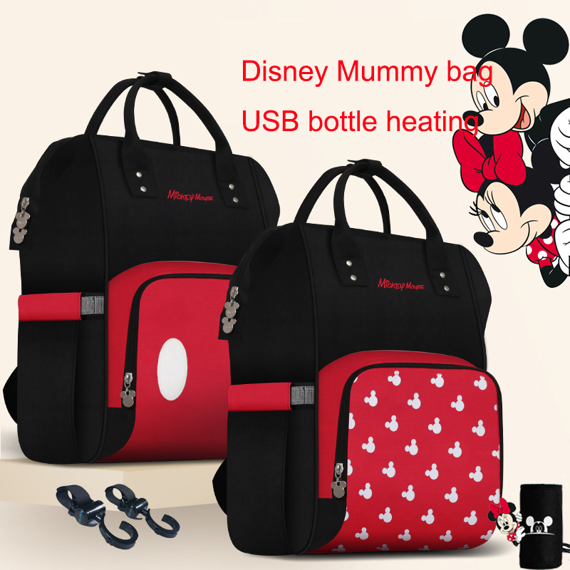 Disney Mickey Diaper Bag Backpack Maternity Baby Bag For Mom Multifunctional Bag Baby Backpack Nappy Baby Stroller Bag Organizer