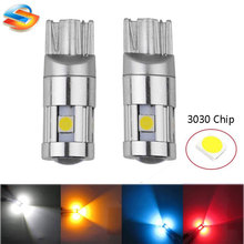 30pcs Extremely Bright 3030 Chipsets T10 5SMD Canbus LED Interior Bulbs For Car Trunk Bulb License Plate Lights DC 12V
