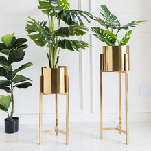 Flower-Pot Plant-Stand Electroplating Nordic Luxury Hotel Lobby Living-Room