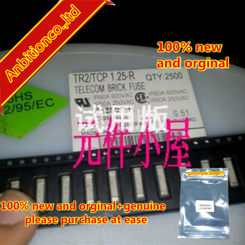10pcs 100% New And Orginal SMD Fuse TR2 TCP1.25-R 2410-1.25A 600V F1250T  In Stock