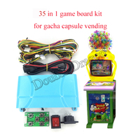 35 in 1 gacha capsule game board kit setting board cables switch build coin operated kids games toys vending machine