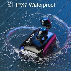 Image 4 - G08 Bluetooth 5.1 אוזניות מגע שליטה אלחוטי Headphons HiFi IPX7 עמיד למים אוזניות אוזניות עם LED תצוגת טעינת תיבה