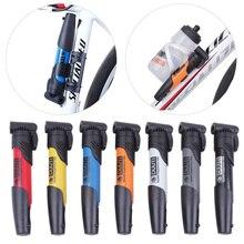 Mini Kunststoff Fahrrad Pumpe Fahrrad Reifen Inflator Zubehör Mountainbike Rennrad Tragbare High intensität Umwälzpumpe