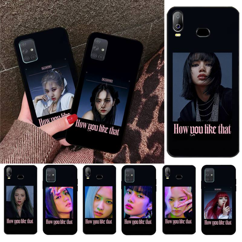YJZFDYRM BLACKPINK HOW YOU LIKE THAT Black Phone Case For Samsung Galaxy A01 A11 A31 A81 A10 A20 A30 A40 A50 A70 A80 A71 A91 A51 image
