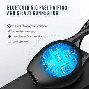 Image 2 - Mpow EM18 Bluetooth 5.0 Auricolare Senza Fili Singolo Cuffie CVC8.0 Cancellazione del Rumore Mic Auricolari Con 24H Tempo di Conversazione Per Il Driver