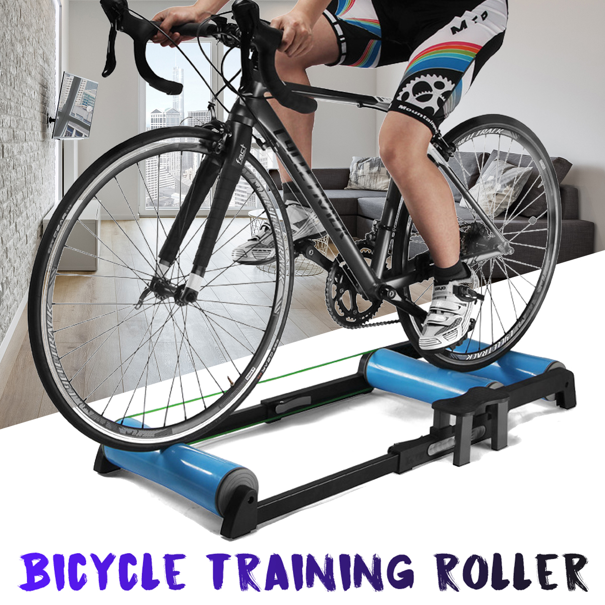 Bike Trainer Rollers Indoor Home Exercise Cycling Training Fitness Bicycle Trainer 24 25 26 28 29inchMTB 700C Road Bike Rollers