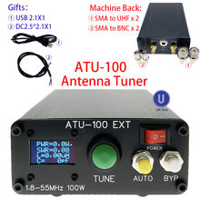 ATU-100 atu100 1.8-50mhz atu100mini sintonizador automático da antena por n7ddc 7x7 3.1firmware programado/smt/chip soldada/+ oled