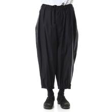 Spring new fashion trend men's casual pants nine-quarter pants loose dark wide legs
