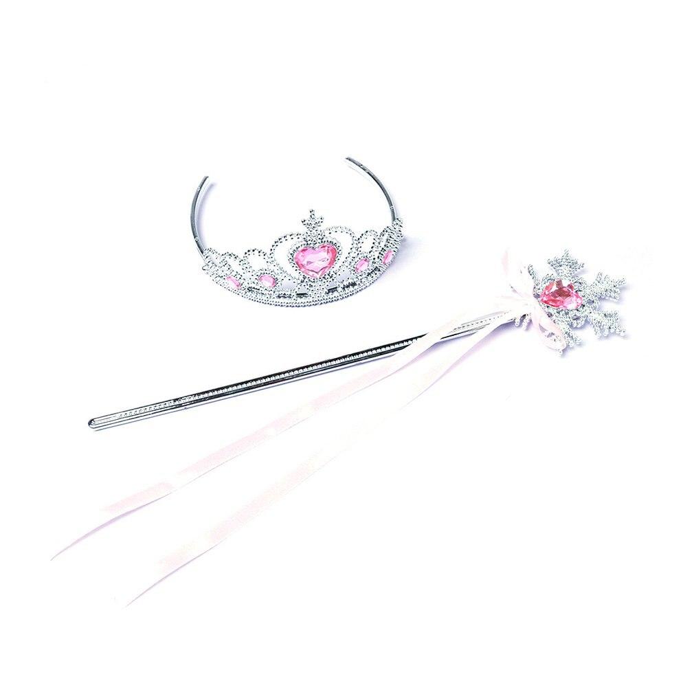 Magic Wand Kids Hair AccessorODFS 1x Crystal Girl Tiara Crown Princess Crown