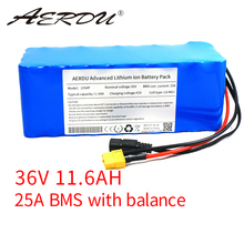 AERDU 36V 11.6Ah 10S4P 18650 Lithium battery pack for LG MG1 250w-750w ebike electric car bicycle motor scooter