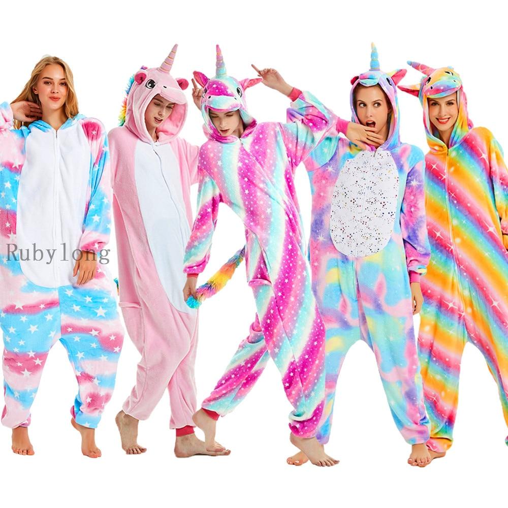 Дети Единорог комбинезоны для девочек и мальчиков, сезон зима милые Totoro Panda Комбинезоны Женщины Аниме Костюмы для мальчиков и девочек, Флане...