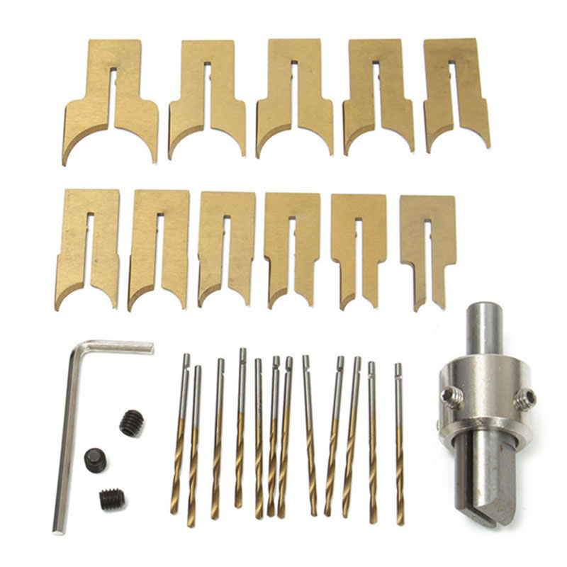 GTBL 24Pcs Metal Ball Knife Woodworking Tools Wooden Beads Drill Rotary Bead Molding 6-25Mm