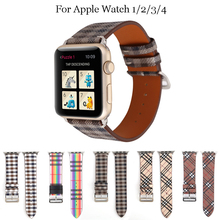 Genuine leather strap band For Apple Watch 1/2/3/4 40/38mm R