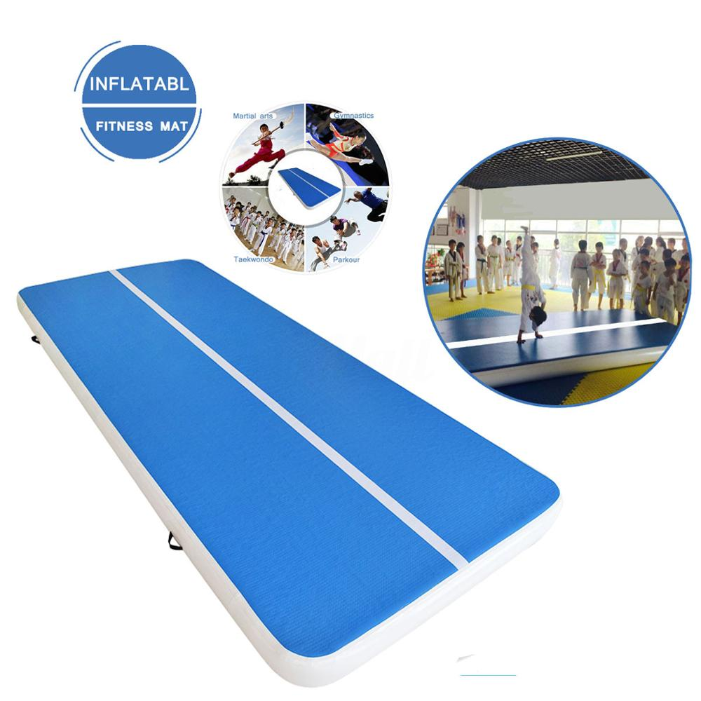 Hot(7m8m10m)*2m*0.2m Inflatable Gymnastics Airtrack Tumbling Air Track Floor Trampoline For Home Use/training/cheerleading/beach