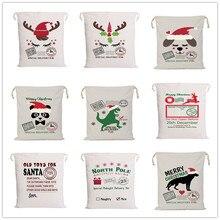 Рождественские мешки Санта-Клауса, много стилей, большой подарок, конфеты, трости, конфеты, конфеты, праздничное украшение для дома