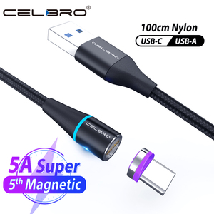 Micro Usb Type C Magnetic Charger Cable Fast Charging for Redmi 8 Huawei P40 5G MatePad Pro Realme 5 X2 Pro XT VOOC Flash Charge(China)