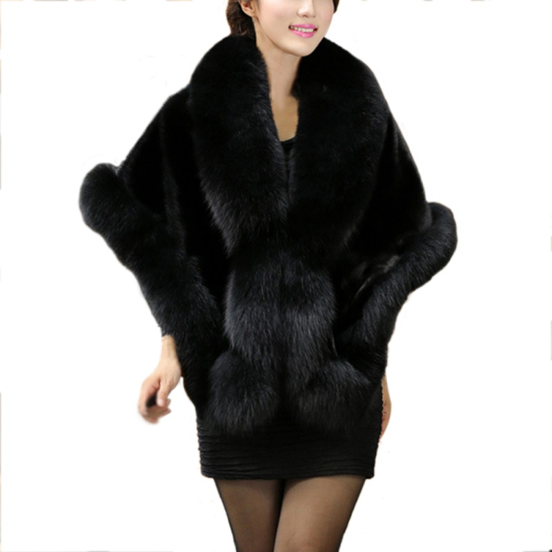 Faux Fur Collar Scarves For Women Winter Artificial Fur Cape Coat Poncho Elegant Fluffly Warm Scarfs Fur Neck Warmer Pashmina