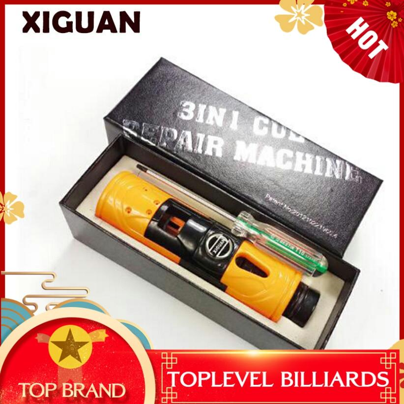 Original XIGUAN Billiard Pool Training Tool Multi-functional Tip Repair Tool(trimmer+side Cutting+ferrule Cutting)for Carom Poo