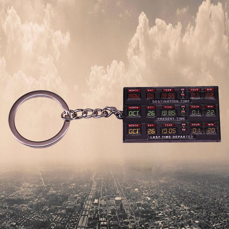 Back To The Future 2 Time Circuits Enamel Keyring BTTF Keychain Doc Brown Marty McFly TimeTravel Sci Fi Movie Buff Gift