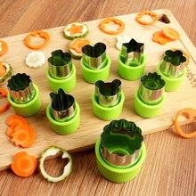 9 шт. овощерезок формы набор «сделай сам» для печенья с цветочным узором для детей в форме лечит Еда прессформа для резки фруктов