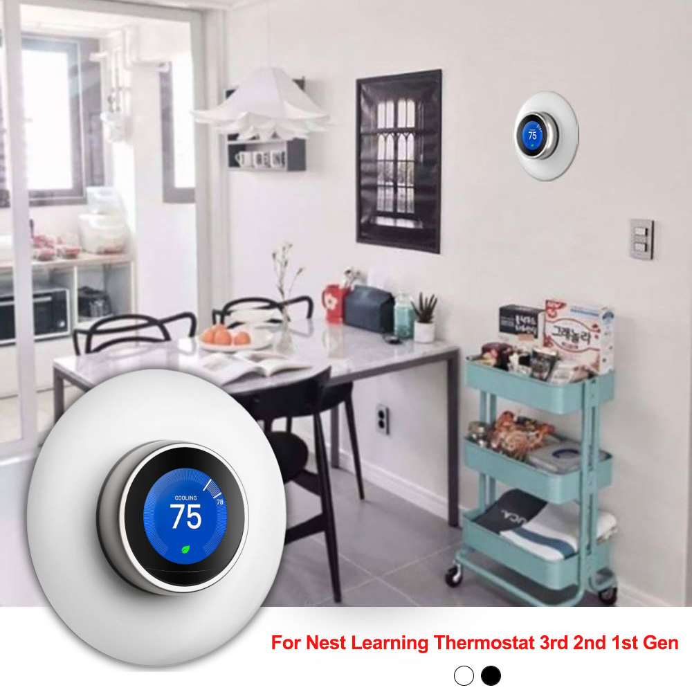 Easy Use Wall Plate For Nest Learning Thermostat 3rd 2nd 1st Gen 3D Stereoscopic Round Cover Household Bracket Mount
