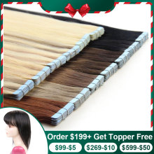 Human-Hair-Tape-Extensions Skin-Weft Blonde Remy-Hair Seamless Isheeny Natural European