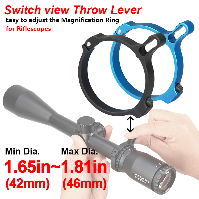 E.T Dragon Scope Mount Airsoft Gun Aluminum Switch View Throw Lever Scope 42-46mm Mount For Riflescope In Hunting Accessory CB3