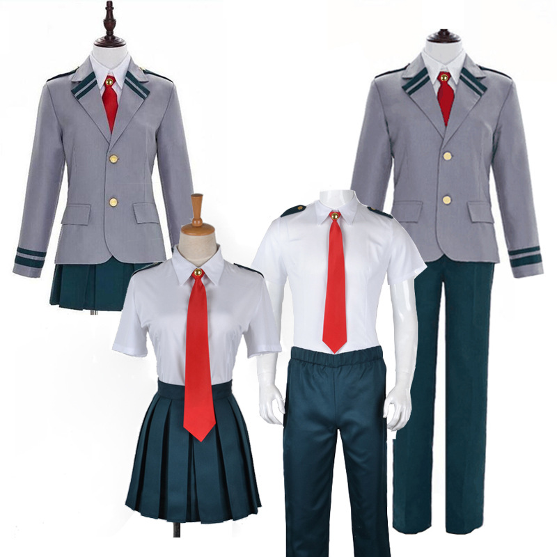 Boku No Hero Academia My Hero Academia Summer And Winiter Uniform Midoriya Izuku Bakugou Katsuki Ochaco Uraraka Cosplay Costume