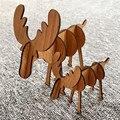 Рождественская деревянная подвеска «сделай сам» в виде оленя/рождественские украшения, деревянные подвески, детский подарок, двухразмерно...