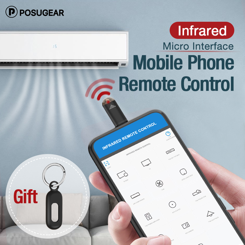 Posugear  Micro USB Interface Universal Mobile Phone Wireless Remote Control Infrared Remote Controller For Android TV STB Box