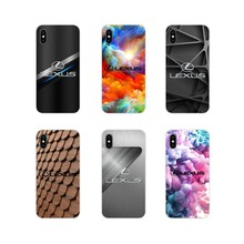 Accessoires Telefoon Shell Covers luxe Auto Lexus Logo Voor Apple iPhone X XR XS MAX 4 4S 5 5S 5C SE 6 6S 7 8 Plus ipod touch 5 6(China)