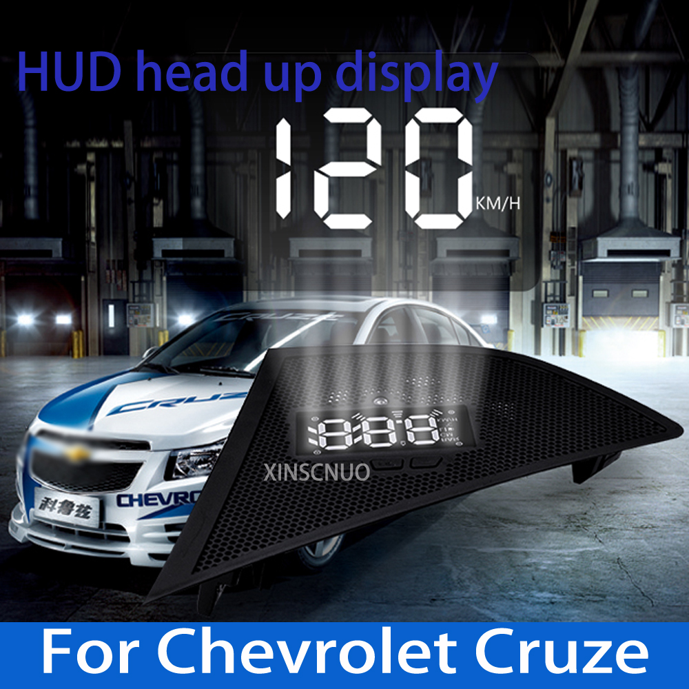 XINSCNUO OBD For Chevrolet Cruze 2014-2018 Car HUD Head Up Display Speedometer Projector Safe Driving Screen Airborne computer