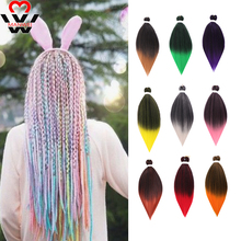 MANWEI��EZ Pre Stretched Braiding Hair Synthetic Crochet Extensions Professional Low Temperature Fiber
