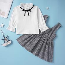 Yoyoshow/новый костюм для девочек на лето и осень милый красивый