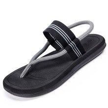 2020 New Summer Beach Shoes Men Sandals Roma Leisure Breathable Clip Toe Dual-purpose Sandal Male Soft 36-45
