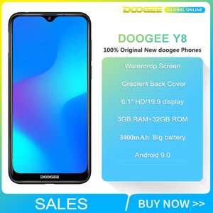 "Image 4 - 재고 있음 DOOGEE Y8 안드로이드 9.0 스마트 폰 3GB RAM 32 GB ROM 6.1 ""FHD 19:9 디스플레이 3400mAh MTK6739 4G LTE 휴대 전화"