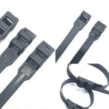 Xingo laço de fio elétrico único, laço de nylon preto com trava automática com zíper uv 50 peças
