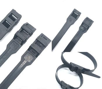 Xingo Unique Double Self-Lock Black Nylon Cable Ties Fasten Loop Electrical Wire ties UV  Heavy Duty Zip ties 50Pcs 100pcs white self locking cable tie high quality nylon fasten zip wire wrap strap 2 5x100mm 2 5x150mm plastic