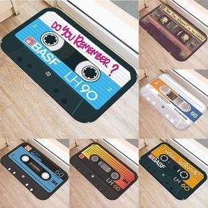 Music tape Anti-slip doormat Vacuuming kitchen bedroon bath Floor mats Home Entrance Rugs kids prayer mat 40*60cm DD0023(China)