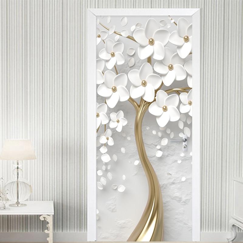 3D Effect Abstract Door Mural Wall Sticker Art Decal Home Office Decorative Deco