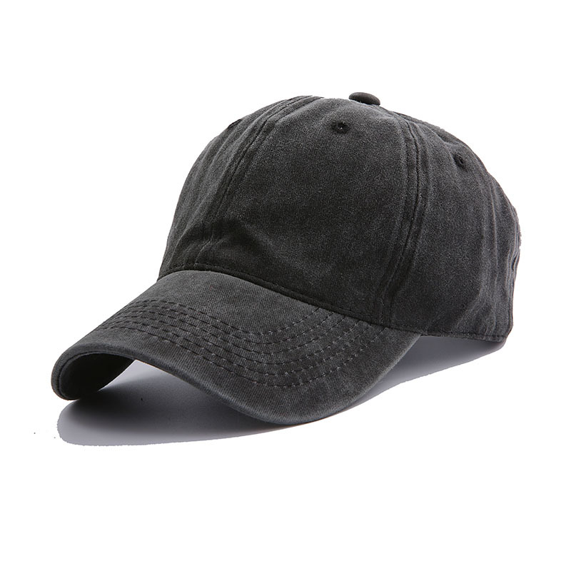 2020 New Hat Female Korean Washed Cotton Distressed Sun Hat