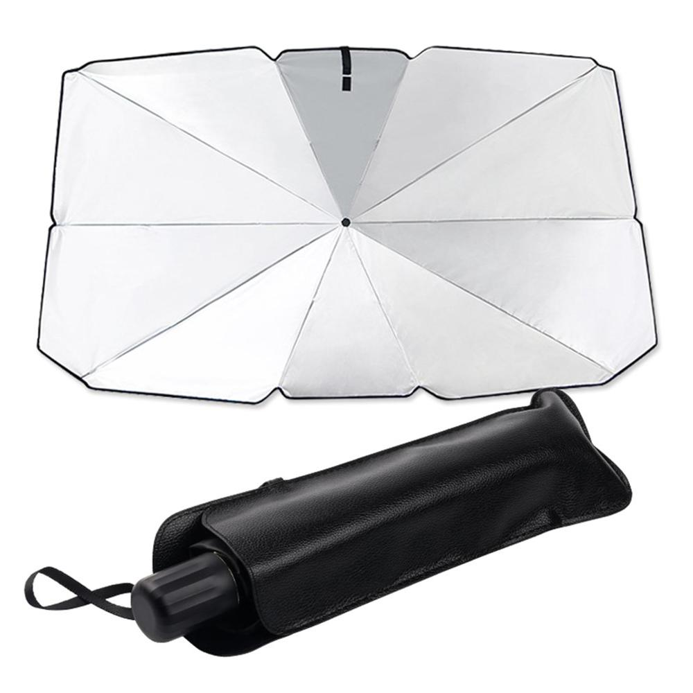 Car Sunshade Front Block Thermal Insulation Umbrella Car Windshield Sunshade Silver Tape 2 Size Optional for Car