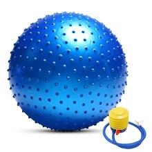 Мяч для йоги с защитой от взрывов, утолщенный стабильный баланс для пилатеса, физического упражнения, подарок, воздушный насос, 55 см/65 см/75 см