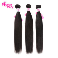 Brazilian Hair Weave Bundles Straight Hair Bundles100% Human Hair Bundles Non Remy Hair Extensions 3 /4 Bundles Queen Mary