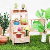Mini casa de muñecas en miniatura, muebles de madera, juguetes, pérgola, jardín, hadas, accesorio, muñecas en miniatura, juguete casero de simulación