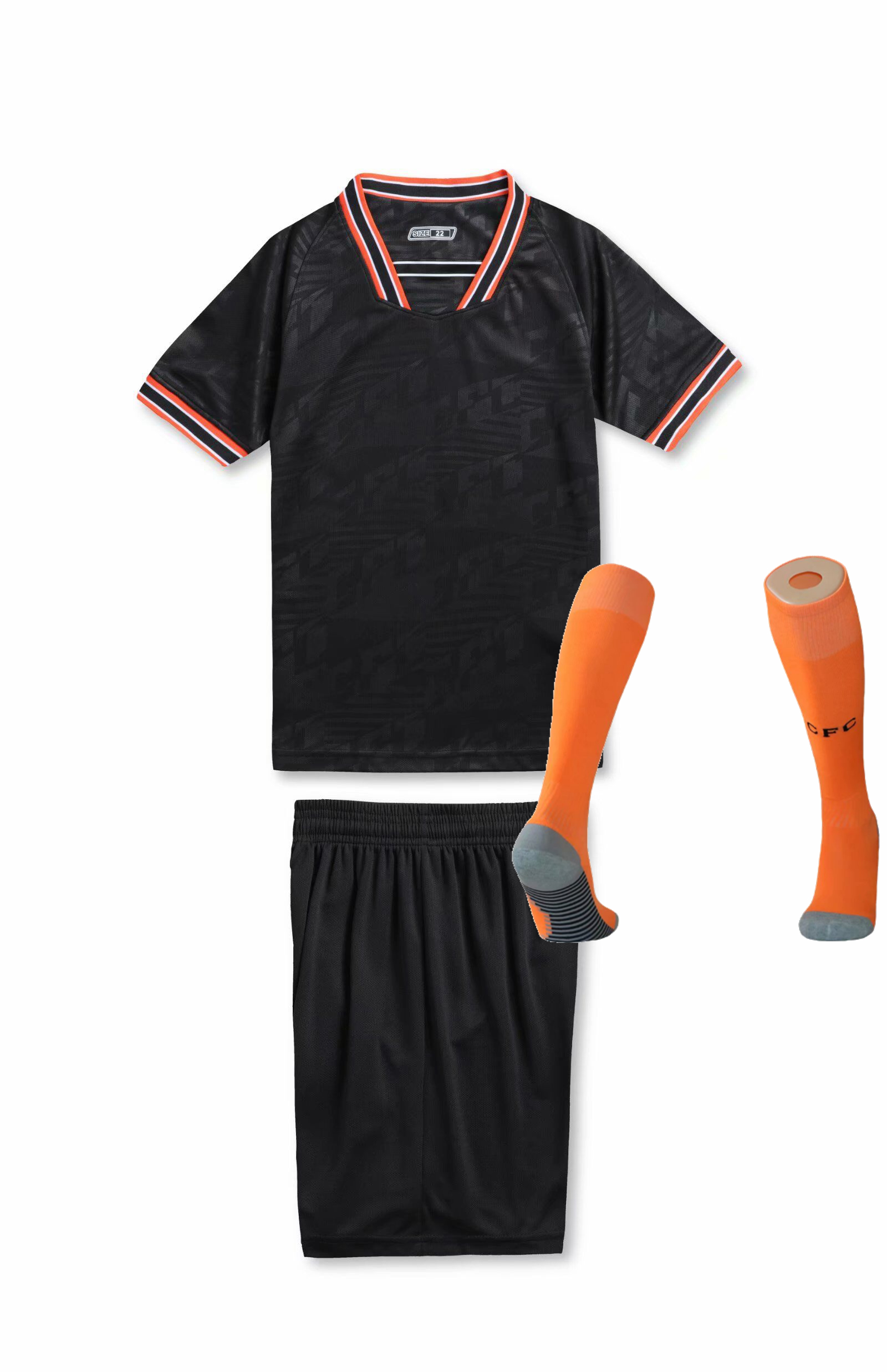 Children Sets football uniforms boys and girls sports kids youth training suits blank custom print soccer set with socks 12